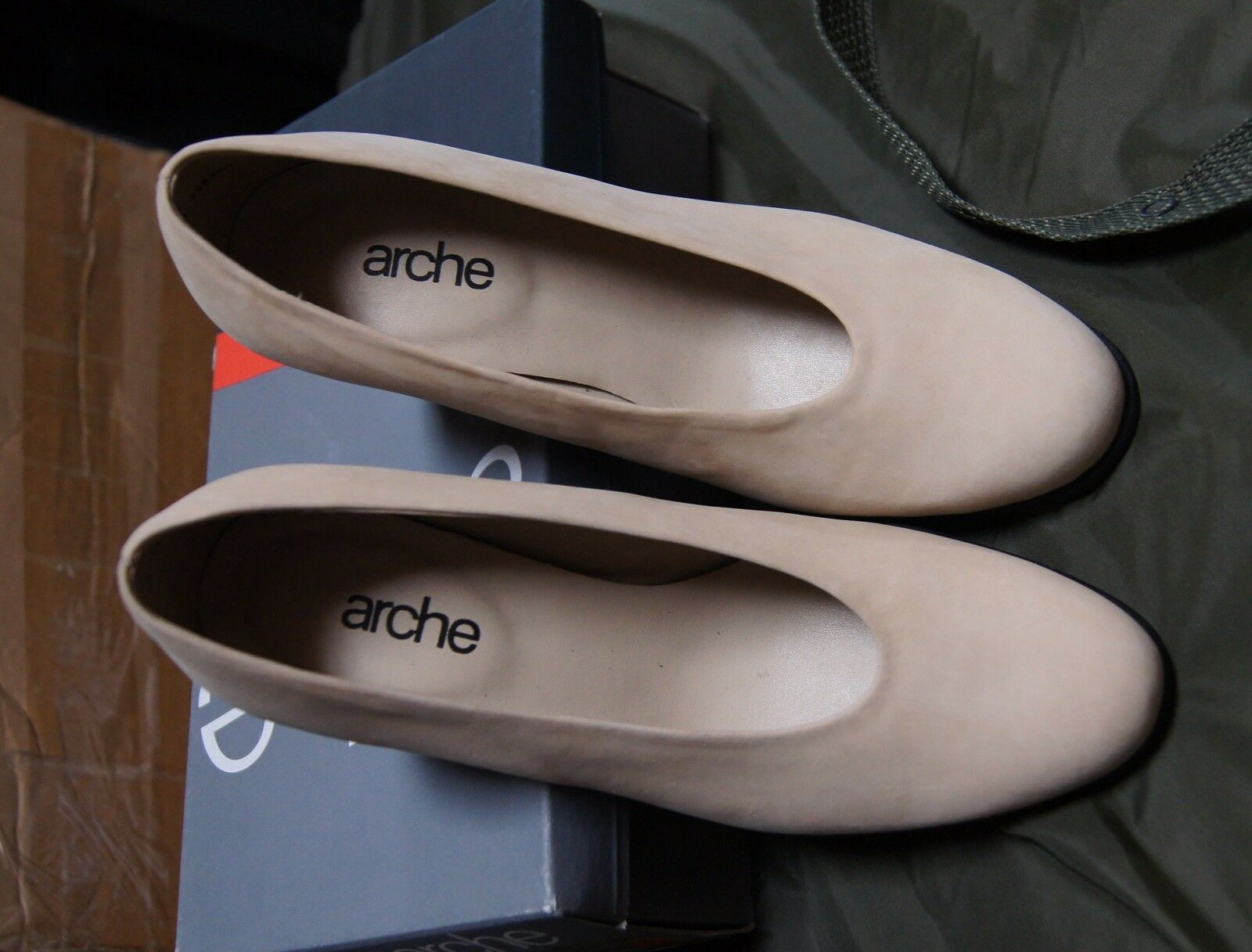 Arche Milo Lina Nubuck Cuir Cour Chaussures