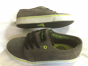 Fallen-Forte-KIDS-dk-charcoal-lime-Skateboard-Skate-Shoes-Schuhe-pricepoint
