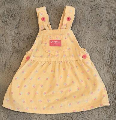 Vintage Oshkosh toddler girl pink dress  floral and corduroy Easter dress size 18 mos