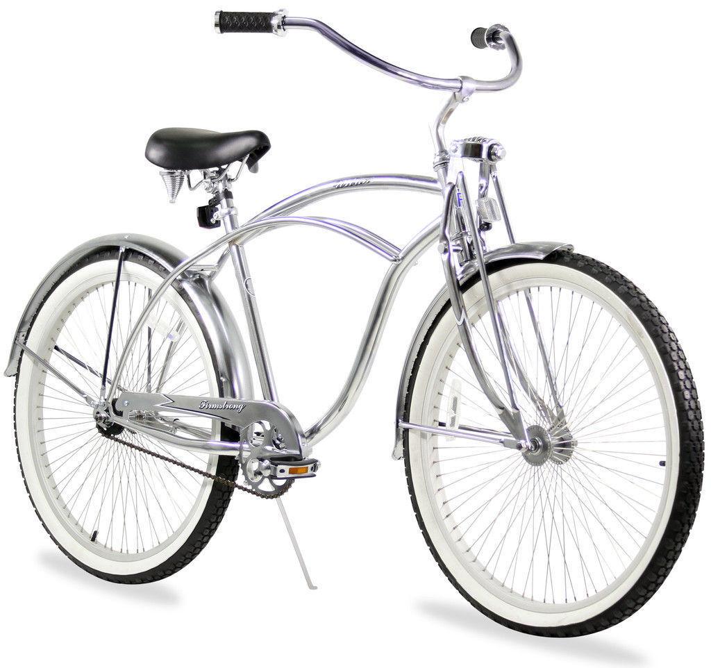 Chrome 26  Beach Cruiser Bike 68 Spokes Springer Fork Coaster Brake