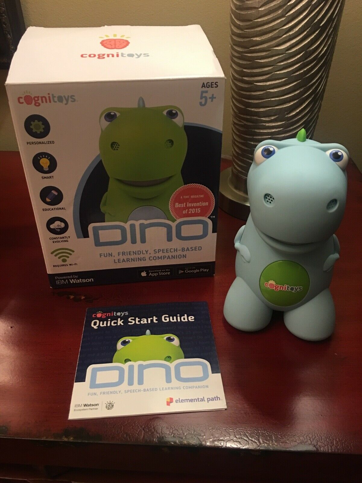 Dino the dinosaur cognitoy bluee Brand New  Learning toy box included
