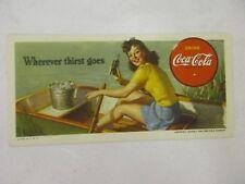 Coca Cola 1942 Boy Scouts Wholesome Refreshment Cooler Ink Blotter Mint Paper