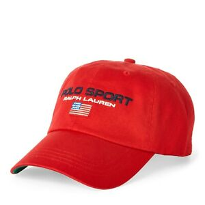 One Size, Red Flag Ralph Lauren Mens Polo Sports Pony Logo Hat Cap