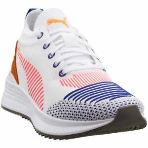 Puma-Avid-Nu-Knit-Lace-Up-Sneakers-Casual-White-Mens