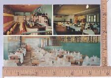 1950s UNUSED POST CARD LOTUS RESTAURANT & LANEY'S SUPPER CLUB, DAYTONA BEACH, FL