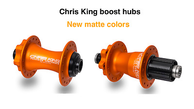 32H front /& rear COLORS many options Chris King ISO Mountain Hubset