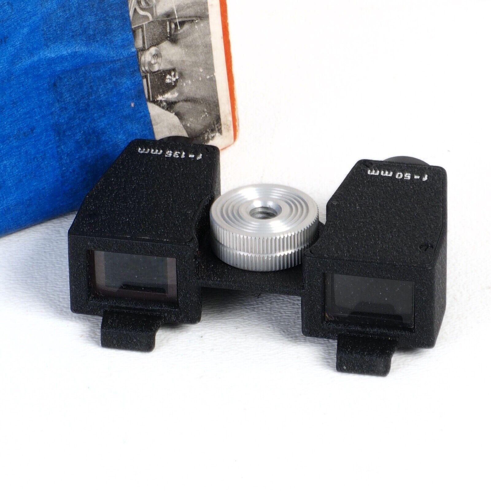^ Novoflex Double Viewfinder 50mm & 135mm for Exakta & Praktica Cameras w/ Box!