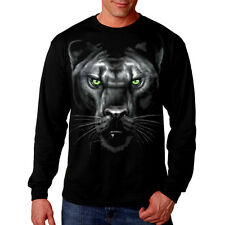 New Men/'s Panther Black T Shirt Muscle Beast Face Tee Wild Animal Hunting