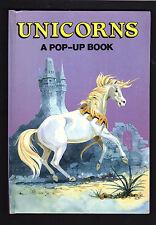 UNICORNS A Pop Up BOOK  (1987 SCHOLASTIC Book Fairs) Ottenheimer Publishers-VG