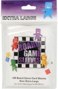 100-Board-Games-Sleeves-EXTRA-GRANDE-65X100MM-CHIARO-involucro-CARTE-avvolgere