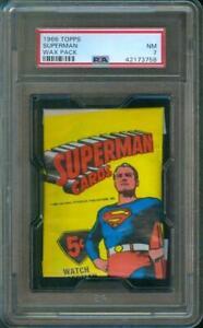 1966-Topps-SUPERMAN-Original-Unopened-Wax-Pack-PSA-7
