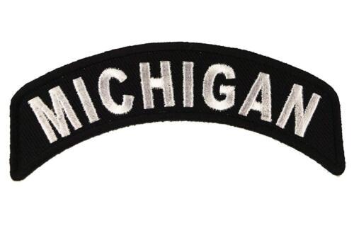 "Michigan Rocker Patch State of Michigan MC Biker Embroidered 4/"" Iron On FAST SHP"