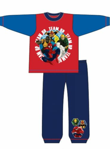 Garçons Enfants Spiderman Pyjamas Nightwear pleine longueur pyjama en coton Bleu Rouge