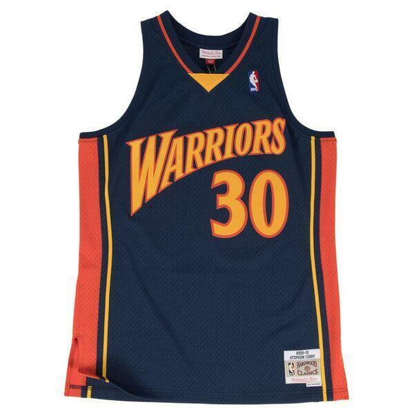M & N NBA GS Warriors Stephen Curry Rd HWC Swingman Jersey (2009-10)