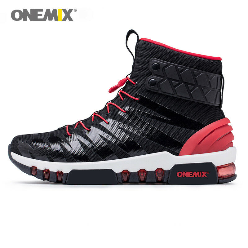 Onemix Fashion Classic Men's Cushion Ankel Boots Winter Authentic Leather shoes