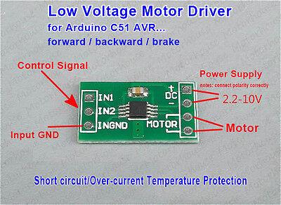 3.3v 5v Mini DC Motor Driver Controller Board Reversible Brake F Arduino C51 AVR