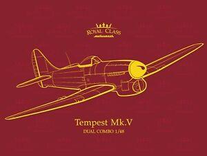 Eduard-1-48-Model-Kit-R0018-Hawker-Tempest-Mk-V-Royal-Class-edition-Dual-Combo