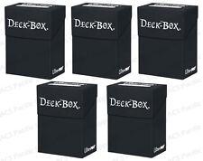 5 Ultra Pro BLACK Deck Box Bulk Lot MTG 81453