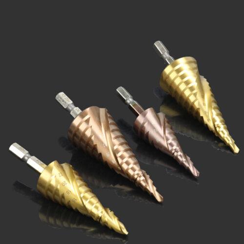 "M35 HSS Step Cone Drill Metal Hole Cutter Bits 3mm 30mm Tools 1//4/"" Hex Shank"