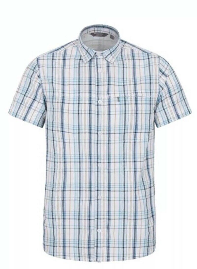 CL9Mens Mountain Warehouse Holiday Mens Cotton Shirt bluee M
