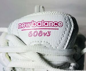 New-Balance-Running-Walking-Shoes-608-V3-Athletic-Women-039-s-Size-6-Sneakers-White