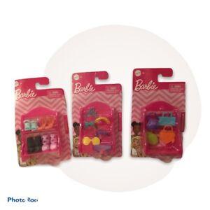 Lot of 3 Barbie Fashion Accessories Packs Headbands Glasses Shoes Handbags