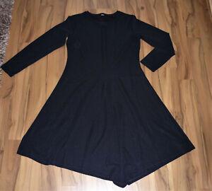 Schwarzes geripptes Midi-Kleid*OPUS, Modell WINULA*Gr. 42 ...