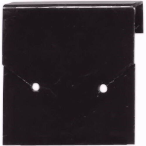 144 Earring Display Cards UnFlocked Black 1inch Square