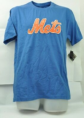 Qualifiziert Mlb New York Mets Wright & Ditson Medium Herren Distressed T-shirt Kurzärmelig Fanartikel