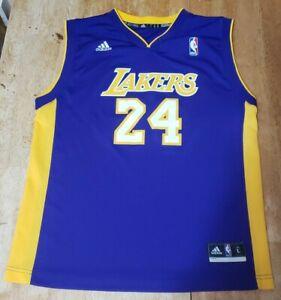 Vintage Adidas Kobe Bryant #24 Los Angeles Lakers Jersey Size ...