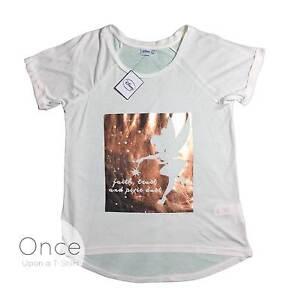 gemütlich frisch begrenzter Stil am besten auswählen Details zu Primark Damen Disney Tinkerbell Glaube, Vertrauen und Pixie  Staub Folie T-Shirt