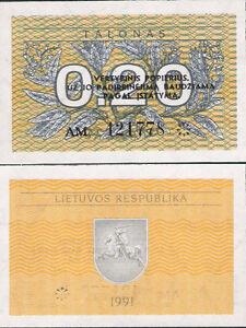 20 Litas 2007 UNC Pick 69 Lithuania