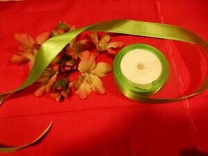 3m-ruban-satine-vert-pre-fleurs-chapeau-ruban-cheveux-poupees-petite-fille