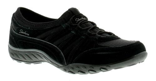 Skechers Breathe Easy Moneybags Womens Flats Black