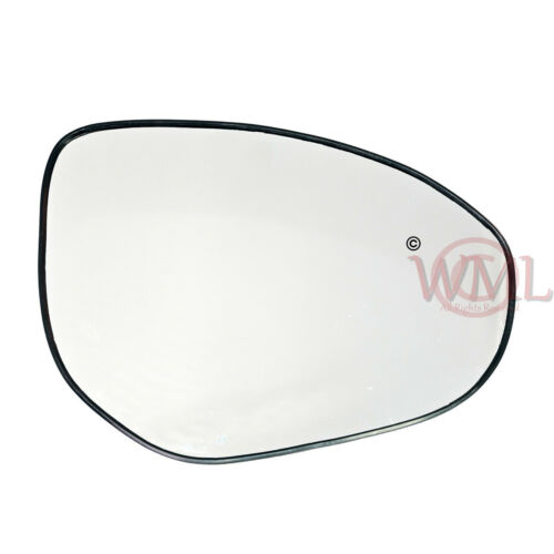 MAZDA 3 05//2009/>2013 DOOR//WING MIRROR GLASS SILVER CONVEX,HEATED /&BASE,RIGHTSIDE