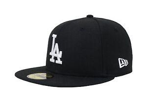 New Era 59Fifty Cap Los Angeles Dodgers Black White LA Back Logo ... a5968d8cb84