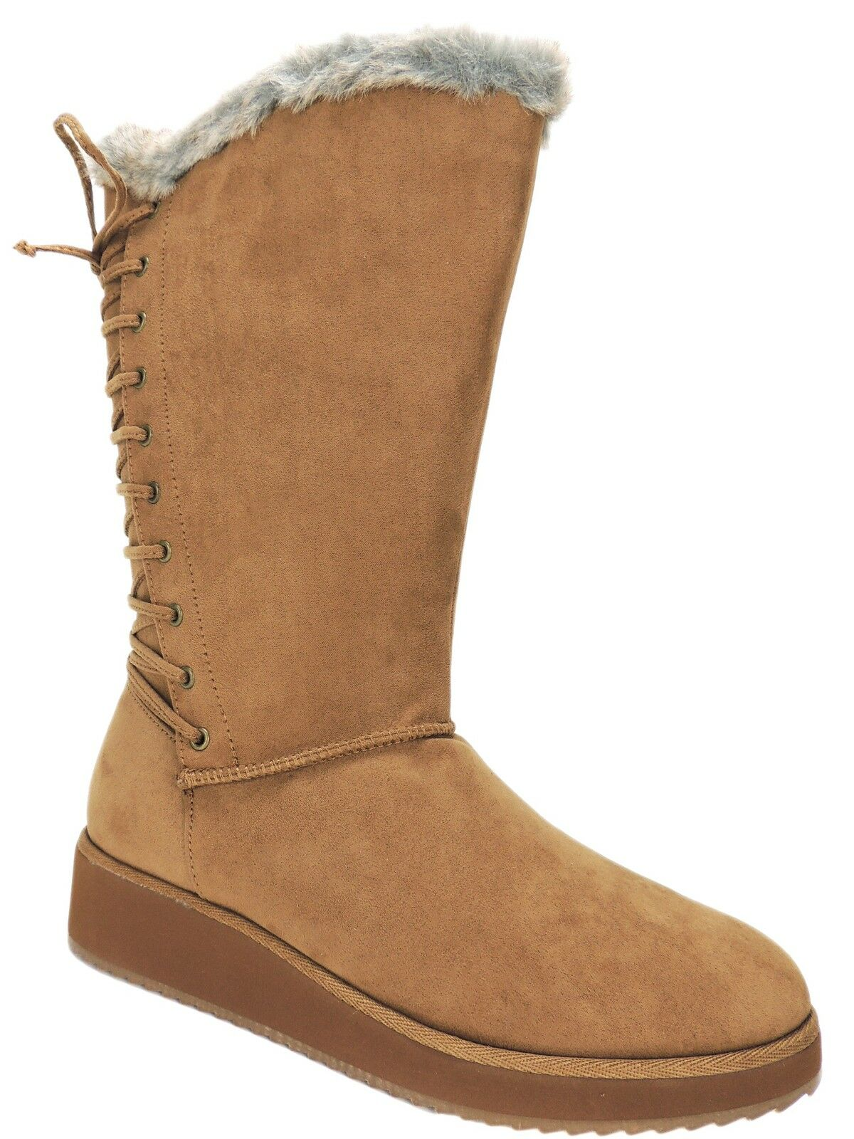 Rampage Women's Perie Cold Weather Winter Boots Camel Micro Suede Size 7.5 M