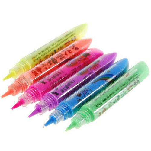 Magic Popcorn Pen Magic Colour DIY Bubble Popcorn Drawing Pens 6 PCS