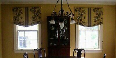 Three Fabric Roman Shades Corded Designer Custom Floral Fabric Gold Jasmine Ebay