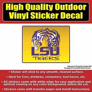 "Louisiana State LSU Tigers NCAA Vinyl Car Bumper Window Sticker Decal 4.5/""X5/"""