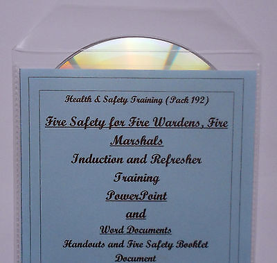 2019 Fire Warden Marshall Health and Safety Training Course Resource  Material CD | eBay