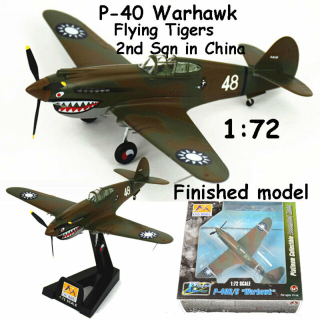 WWII P-40 Warhawk Flying Tigers 2nd Sqn in China 1:72 finished plane Easy model
