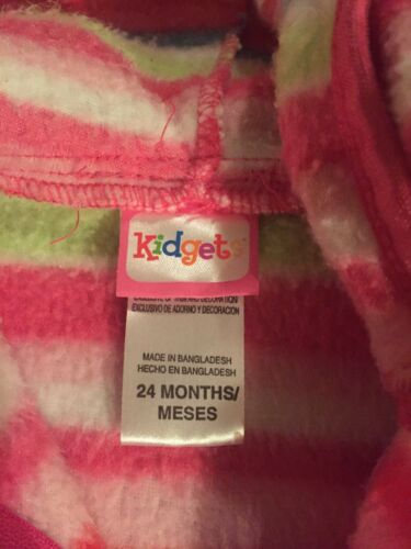 1 of 3Only 1 available Kidgets Fleece Baby Girl Jacket 24 Months 251a47425