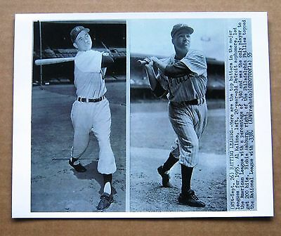 1955 Al Kaline & Richie Ashburn Batting Champs  B&W 8x10 Photo - AL / NL!