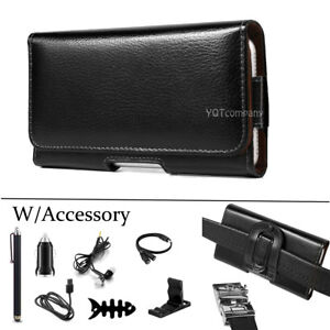Leather-Horizontal-Belt-Clip-Case-Pouch-Cover-Holster-for-iPhone-Samsung-Note-LG