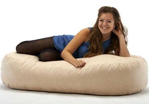 1 of 1 - XXX-L Beanbags 16cuf *Suede bean bag sofa bed beanbag lounger Cream