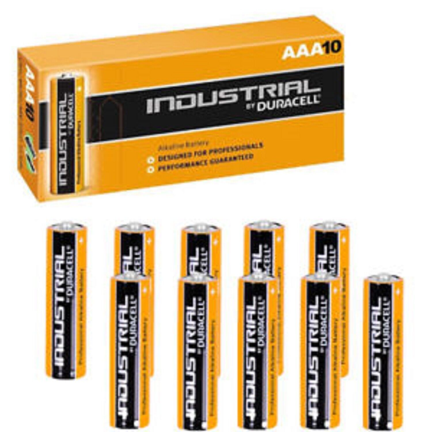 100 x Duracell Industrial AAA Genuine Stock