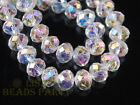 10/50pcs 14mm Rondelle Faceted Crystal Glass Loose Beads Wholesale Lots 43Colors