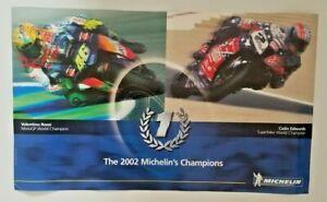 Vintage Poster 2002 MotoGP Valentino Rossi Colin Edwards Superbike