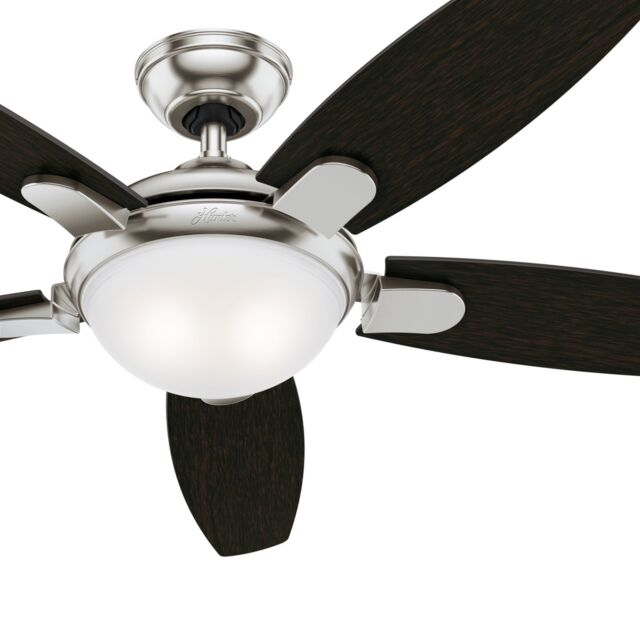 Hunter Avia With Light 54 Inch Ceiling Fan Brushed Nickel 59253 For Online Ebay